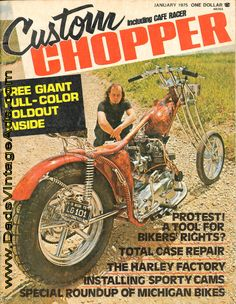 1975 Custom Chopper – Ron's Rocket, another Finch Wheeled Creation
