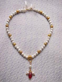 Piero Pollaiuolo inspired necklace (renässans efter målning)