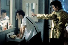 Christian Slater with Val Kilmer as The Mentor (Elvis)  -  True Romance