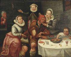 Circle of David Vinckboons (Mechelen 1576-1629 Amsterdam) A brothel scene