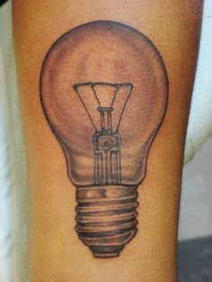 Bulb Tattoo For Arm