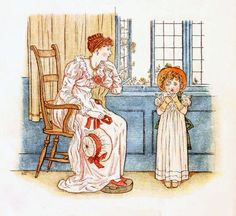 Little Ann, a book by Kate Greenaway 1880 - Plate 6