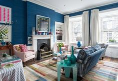 Edinburgh Georgian townhouse apartment - eclectic - Living Room - Scotland - Jessica Buckley Interiors