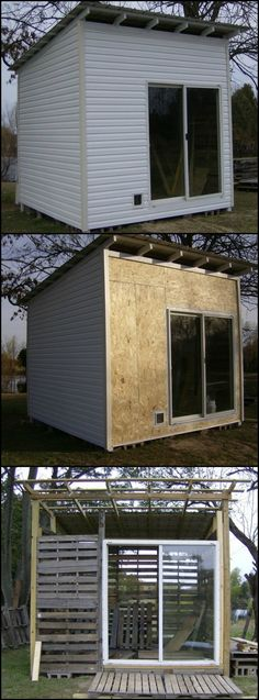 Learn How To Build A Shed From Reclaimed Pallets  http://theownerbuildernetwork.co/yz72  Need a backyard getaway? Why not make this shed from repurposed pallets!  A shed is almost essential for every home.  Where else can you store the tools, lawn mower and miscellaneous stuff that doesn't fit in the house? And, of course, there's that 'man cave' thing!