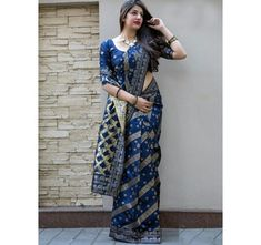 Style Array Present Beautiful Blue Color Pure Silk With Weaving Branded Saree . Buy This Attractive Look Beautiful Blue Color Pure Silk With Weaving Branded Saree Blue Silk Saree, Soft Silk Sarees, Georgette Sarees, Cotton Saree, Saree Tassels, Bridal Fabric, Pleated Fabric, Traditional Sarees, Printed Sarees