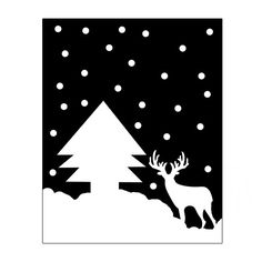 Christmas Print deer and tree snow Instant Download by gonulk #deer #deertdecor #nurserydecor #christmasdecor #blackandwhite #snow #HomeDecor #WallDecor #WallArt  #Art #Etsy #Print #ArtPrint #HomeDecorating  #artprint #roominteriordecoration  #instantdownload #housewarming #printable