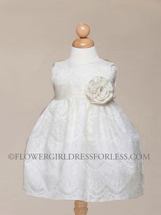 This was Haileys Flower Baby Dress for the wedding: Embossed Lace Dress, $39.99