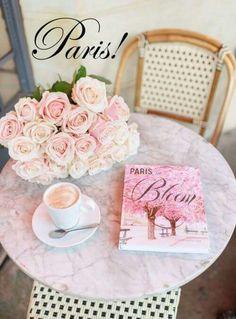 A beautiful book celebrating Paris, her flowers and her floral decor. Parisian Bedroom, Parisian Apartment, Coffee In Paris, Bloom Book, I Love Paris, Pink Paris, Paris Chic, Little Princess, Princess Diana