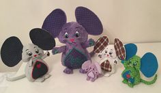 Madame and her mice Family Machine Embroidery ITH 4x4