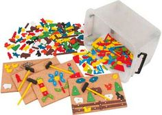 Hammer and Nail Play Set in Container