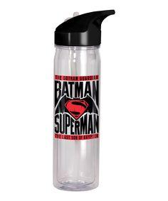 Batman Vs. Superman Flip Top Bottle