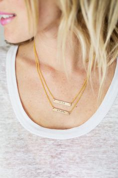 Make Your Own Hand-Stamped Necklace - A BEAUTIFUL MESS (and this girl has amazing hair!!)