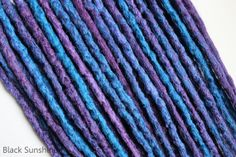 Purple and Blue Crochet Synthetic Dreads DE  by blacksunshineiow, £39.99