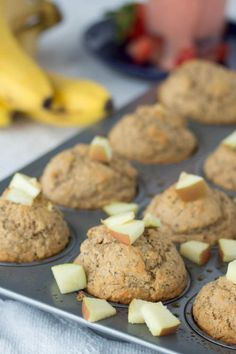 applesauce muffins - No Diets Allowed Healthy Muffins, Healthy Breakfast Recipes, Breakfast Ideas, Healthy Dishes, Healthy Snacks For Kids, Healthy Eating, Applesauce Muffins, Chia Recipe, Low Calorie Recipes