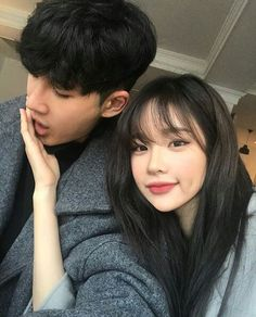 Two people are really together, at least do each other - Cute Korean, Korean Girl, Asian Girl, Couple Aesthetic, Korean Aesthetic, Ulzzang Couple, Ulzzang Girl, Couple Goals Cuddling, Girl Couple