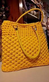 Crochet Basket Fabric Bag Patterns New Ideas Mode Crochet, Diy Crochet, Crochet Crafts, Crotchet Bags, Knitted Bags, Crochet Handbags, Crochet Purses, Crochet Designs, Crochet Patterns