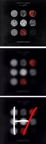 As the album becomes more blurry, it's easier to see the symbol.<<< DDAAAAAAAAMMMMMNNNN