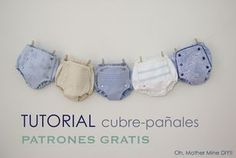Tutorial and pattern: baby bloomers Sewing Baby Clothes, Knitted Baby Clothes, Baby Sewing, Diy Clothes, Knitting For Kids, Sewing For Kids, Baby Knitting, Crochet Baby, Baby Boy Dress