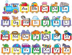 Teacher Created Resources - Alphabet Train Bulletin Board Set on sale now! Bulletin Board Sets, classroom decorations, and more. Alphabet Line, Alphabet Board, Alphabet Charts, Alphabet Worksheets, Learning The Alphabet, Alphabet Activities, English Alphabet, Alphabet Letters, Train Bulletin Boards