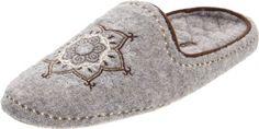 ACORN Women's Henna Scuff Slipper,Light Grey