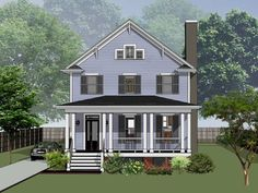 Country Style House Plan - 3 Beds 2.5 Baths 2124 Sq/Ft Plan #79-263 - Houseplans.com Country Style House Plans, Farmhouse Plans, Building Plans, Square Feet, Gazebo, Floor Plans, Outdoor Structures, Baths, Flooring