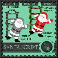 Santa Script [Designs by seve] - $3.00 : LowBudgetScrapping