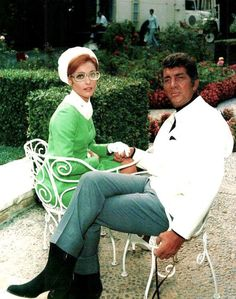 """Summer 1968: Dean and Sharon Tate on """"The Wrecking Crew"""" set."""