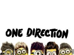 One directions funny of minions lol 😃😃 One Direction Minions, I Love One Direction, Funny Cute, The Funny, Hilarious, Save Our Souls, Pop Culture References, Thoughts Of You, 1d And 5sos