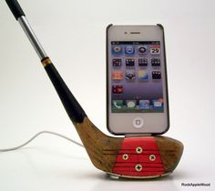 Golf Clubs Repurposed Vintage Genuine Persimmon Wood Golf Club iPhone Dock by RockAppleWood Buy Golf Clubs, Cleveland Golf, Ipod Dock, Club Face, Woods Golf, Golf Player, Play Golf, Best Player, Golf Tips