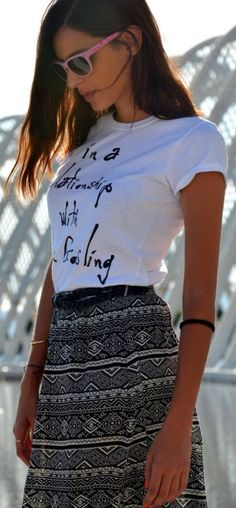 Mr Steve Black And White Women's Printed Tshirt