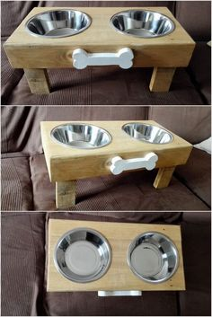 You are often left with the idea of using the wood pallet for the interesting use of the wood pallet dog feeder. This feeder is basically designed in the form of the large tray in which two plates are settled on top of it. It is quite simple in designing which you can even do your own self.