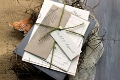 Moss Tree - Rustic, Chic, & Elegant Wedding Invitations, Moss Twine, Peach - Purchase for a Sample