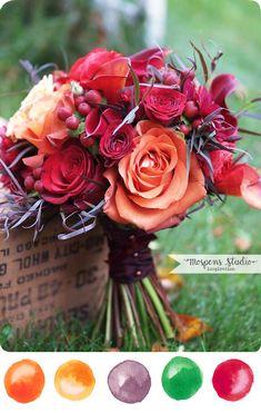 Marsala Wedding Decor   fall-wedding-theme-wedding-bouquet-idea.jpg