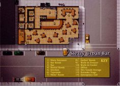Sleazy Urban Bar (977×701); shadowrun, floorplan