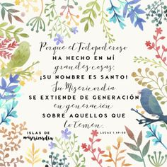 Islas de Misericordia by Sarai Llamas (Lucas 1, 49-50) #bibleverse