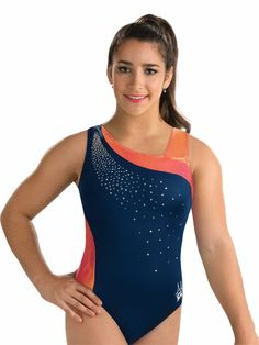 Aly Raisman Asymmetrical Tank Leo from GK Elite