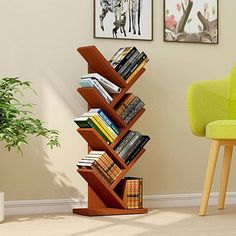 Ebern Designs The open layer design of this shelving storage cabinet makes it ideal for small items, such as toys, pens, plants. The design makes it good decoration. Cube Bookcase, Wall Bookshelves, Etagere Bookcase, Ladder Bookcase, Wood Shelves, Display Shelves, Shelving, Bookcases, Small Bookcase