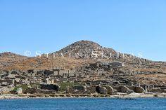 Panoramic view theatre quarter. Delos. Cyclades. Greece. Delos Greece, Apollo And Artemis, Grand Canyon, Theatre, City Photo, Island, Travel, Image, Viajes