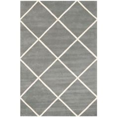 Safavieh Chatham x Rectangle Wool Hand Tufted Geometric Area Rug Dark Grey / Ivory Home Decor Rugs Area Rugs Glamour, Carpet Colors, Wool Area Rugs, Wool Rugs, Accent Rugs, Blue Ivory, Grey Rugs, Outdoor Rugs, Colorful Rugs