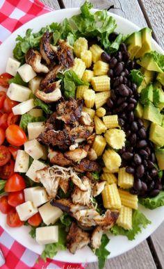 Jamaican Jerk Grilled Chicken Chopped Salad