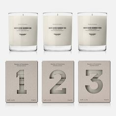 numbering packaging? Interesting idea for a collection of things.
