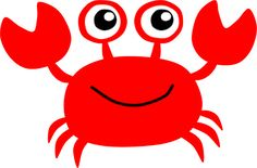 Cartoon Crab Clipart - Clipart Suggest Animal Coloring Pages, Coloring Pages For Kids, Crab Clipart, Crab Cartoon, Barbie Em Paris, Crab Painting, Crab Art, Baby Shark, Sea Creatures