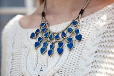 knits and statement necklace