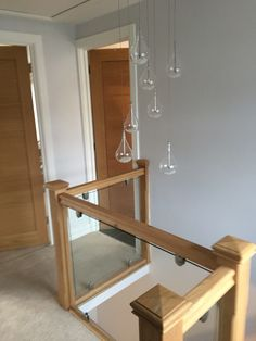 John Lewis lights and new glass bannister.