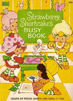 Strawberry Shortcake Coloring Book - Busy Book @ Toy-Addict.com