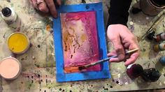 "Welcome to Wax on Wednesdays ! This week some fun with india inks, glue , encaustic, and shellac . All new online workshop ""Encausticology Collage Journey "" . Wax Art, Impressionist Art, Encaustic Painting, Chalk Pastels, Elements Of Art, Linocut Prints, Learn To Paint, Painting Techniques, Art Tutorials"