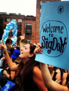 Welcome to Sig Delt #SigmaDeltaTau #SigDelt #BidDay #sorority
