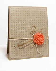 Karen's Kraft Rose Card, simple but elegant ♥♥♥