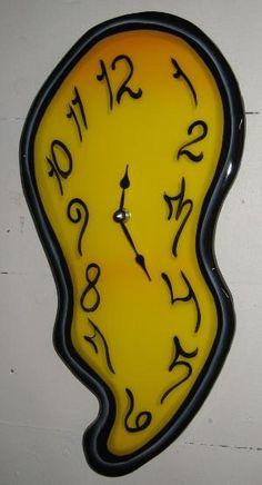 melting clock..reminds me of alice in wonderland