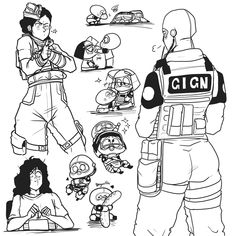 Rainbow Six Siege Anime, Rainbow 6 Seige, Rainbow Six Siege Memes, Tom Clancy's Rainbow Six, Rainbow Art, Character Art, Character Design, Beautiful Drawings, Military Art
